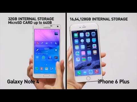 เปรียบเทียบ Galaxy Note 4 Vs. iPhone 6 Plus