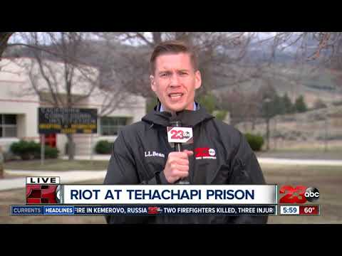 "Inmate shot in ""buttocks"" during prison riot in Tehachapi, Calif."