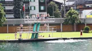Zell am See Austria Waterfun at the lake   Wasserspass am Zeller See