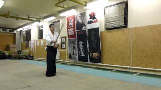 tsuki jodan gaeshi- jo [TUTORIAL] Aikido basic weapon technique /tsuki no bu