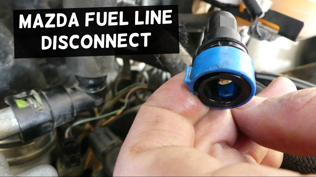 how to disconnect fuel line on mazda fuel line removal demonstrated on cx 7 [ 1280 x 720 Pixel ]