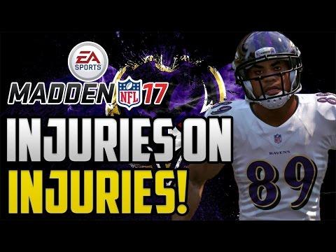Madden 17 Baltimore Ravens Franchise Mode: Injuries On Injuries! Ep 6 PS4