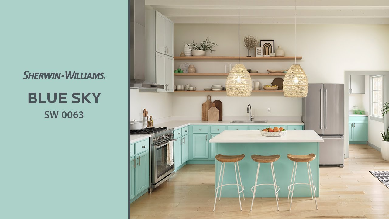 Sherwin Williams: April 2019 Color Of The Month: Blue Sky