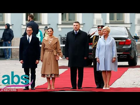 Sweden's Crown Princess Victoria and Prince Daniel arrive in Latvia   | ABS US  DAILY NEWS