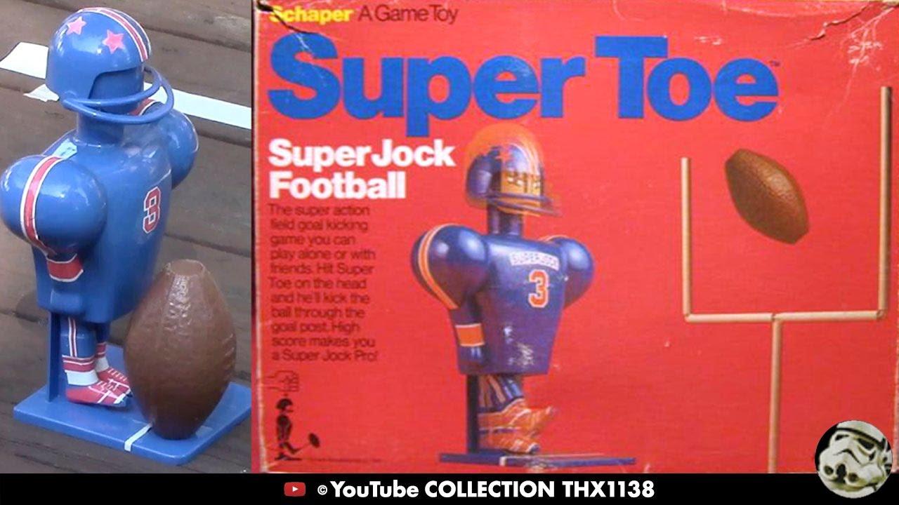 FOOTBALL SUPER JOCK SUPER TOE SUPER LONG DISTANCE KICKS Schaper Game Toy  1975   Collection THX1138