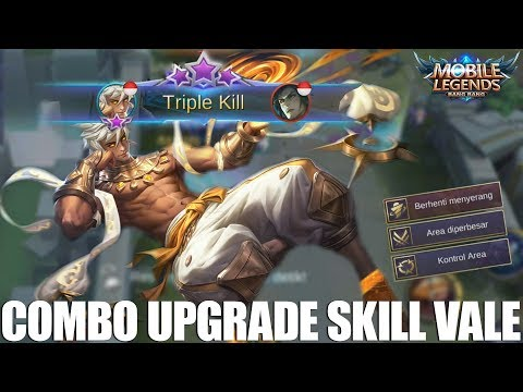 TIPS UPGRADE SKILL SERTA BEST COMBO DAN ITEM BUILD HERO BARU VALE - MOBILE LEGENDS