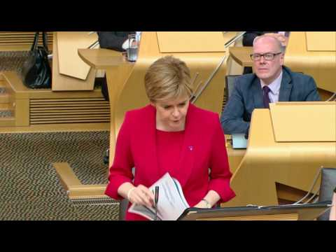 First Minister's Questions - Scottish Parliament: 22 June 2017