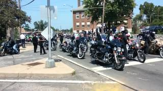Black biker gang shuts the streets down for Mike Browns funeral!!