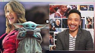 Did Laura Dern Really See Baby Yoda at an NBA Game? | NBA Desktop | The Ringer
