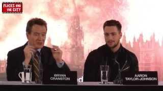 Kick-Ass 3 & Godzilla vs Kick-Ass - Aaron Taylor-Johnson, Bryan Cranston & Gareth Edwards Interview