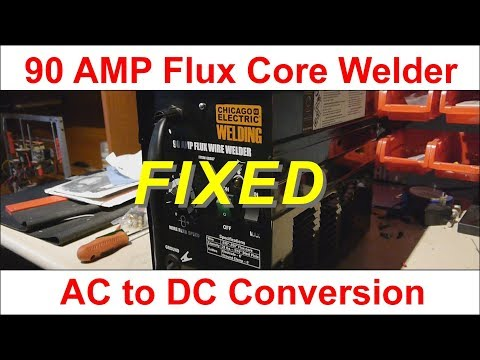 FIXED - 90 amp welder AC to DC Conversion