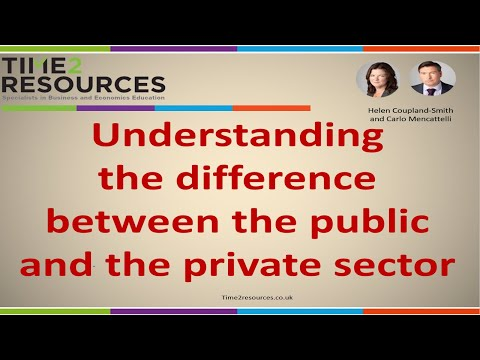 Understanding the public and private sector