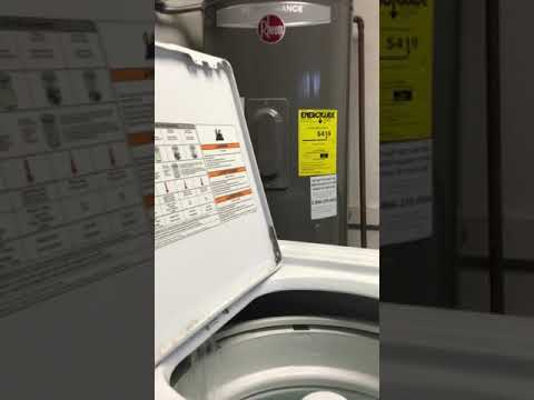 full video of clean washer with affresh cycle on Roper washing machine
