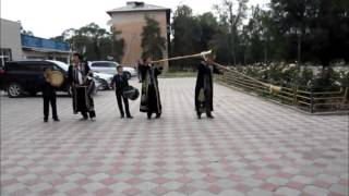 Kyrgyz tradional band in Karakol