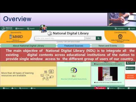 National Digital Library Portal - Instruction Course (Central University of South Bihar)