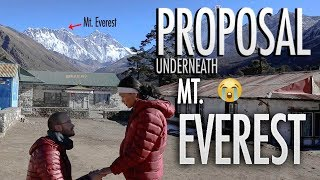 HIS PROPOSAL UNDERNEATH MT. EVEREST
