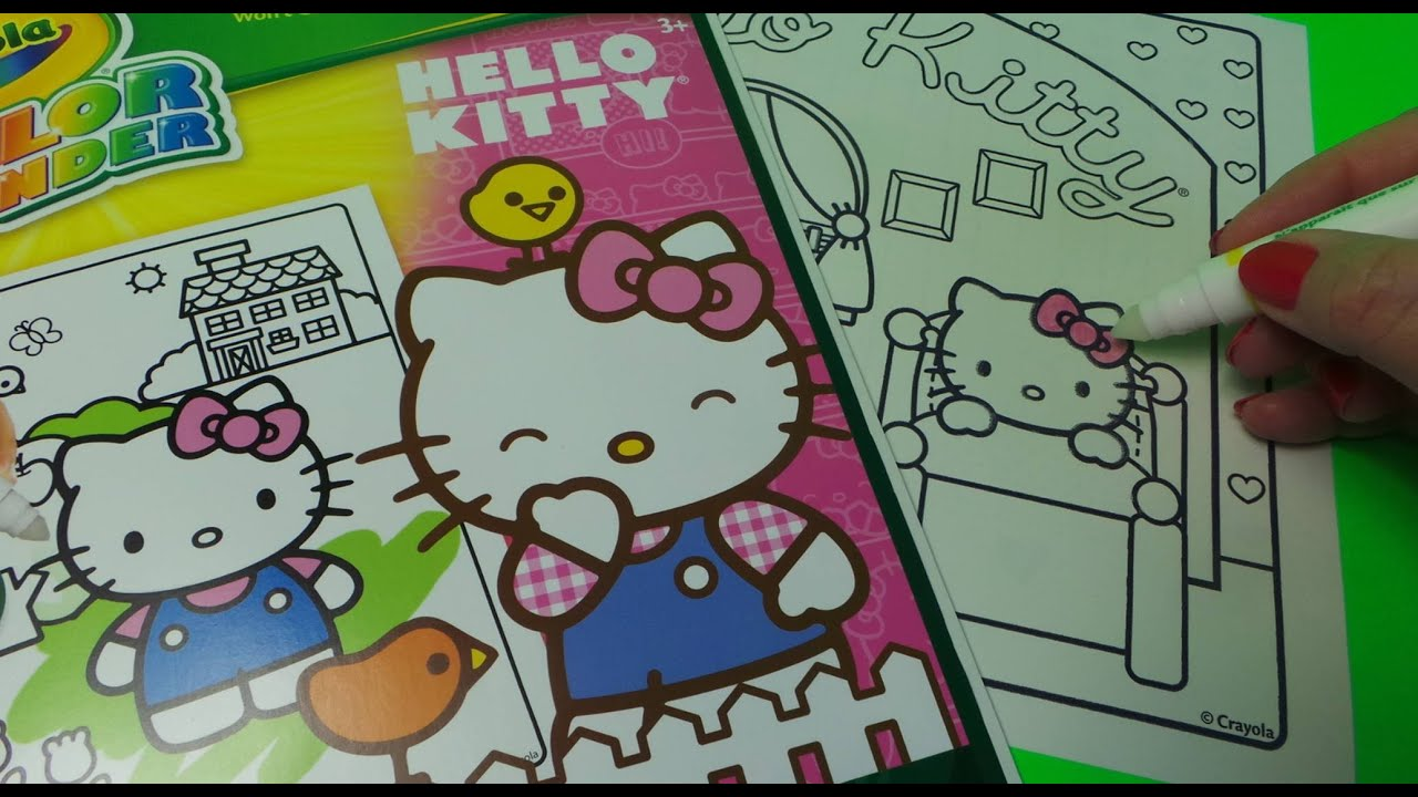 MORE FUN WITH CRAYOLA COLOUR WONDER FROM HELLO KITTY MAGIC COLOURING BOOK
