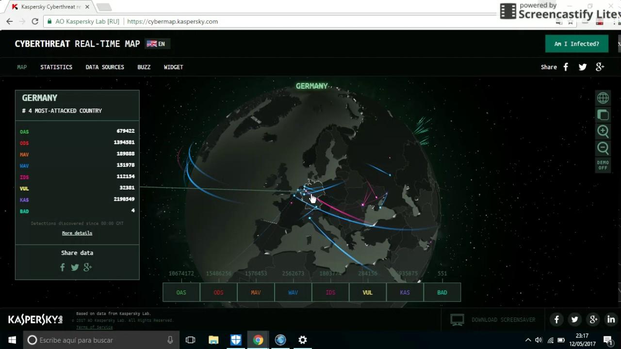 Ataques Informaticos Mundiales en Tiempo Real - YouTube