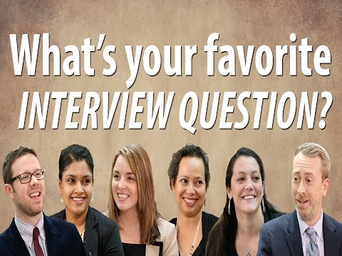 Ask the recruiter: What's your favorite interview question?