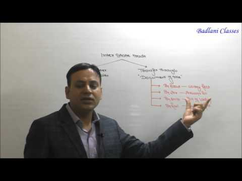 CA / CMA : Indirect Tax : Central Sales Tax : Lecture 2 : CST
