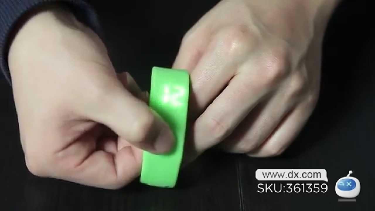 Multifunctional 1 Quot Led Usb Smart Bracelet Watch W 3d