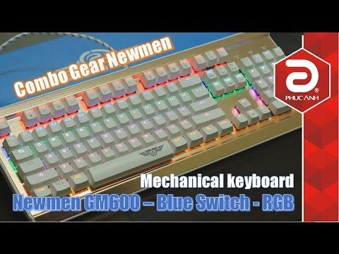 Bàn phím cơ Newmen GM600 Rainbow – Combo chuột và bàn phím tốt nhất với mức giá rẻ