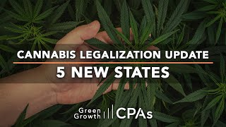 Cannabis Legalization Update – 5 NEW States