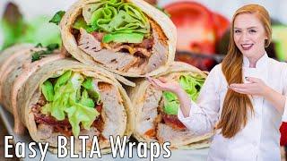 BLTA Pork Wraps