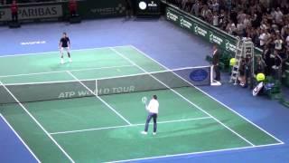 Zlatan Ibrahimovic plays tennis with Novak Djokovic HD