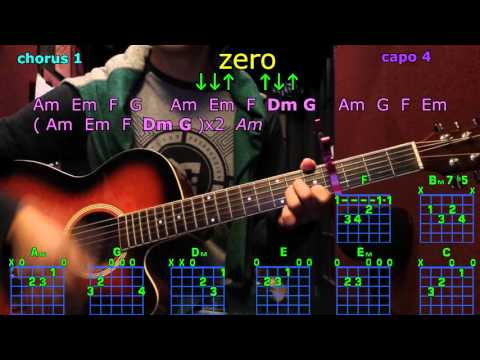 zero chris brown guitar chords