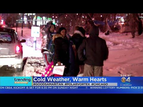 DJ Jaime Ferreira aka Dirty Elbows - Good Samaritan Helps 70 Homeless Folks In Chicago During Polar Vortex.