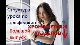 СТРУКТУРА УРОКА ПО СОЛЬФЕДЖИО / БОЛЬШОЙ ВЫПУСК