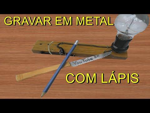 COMO FAZER LÁPIS DE GRAFITE GRAVAR EM METAIS/ WRITE IN METALS/ ESCRIBER EN METALES