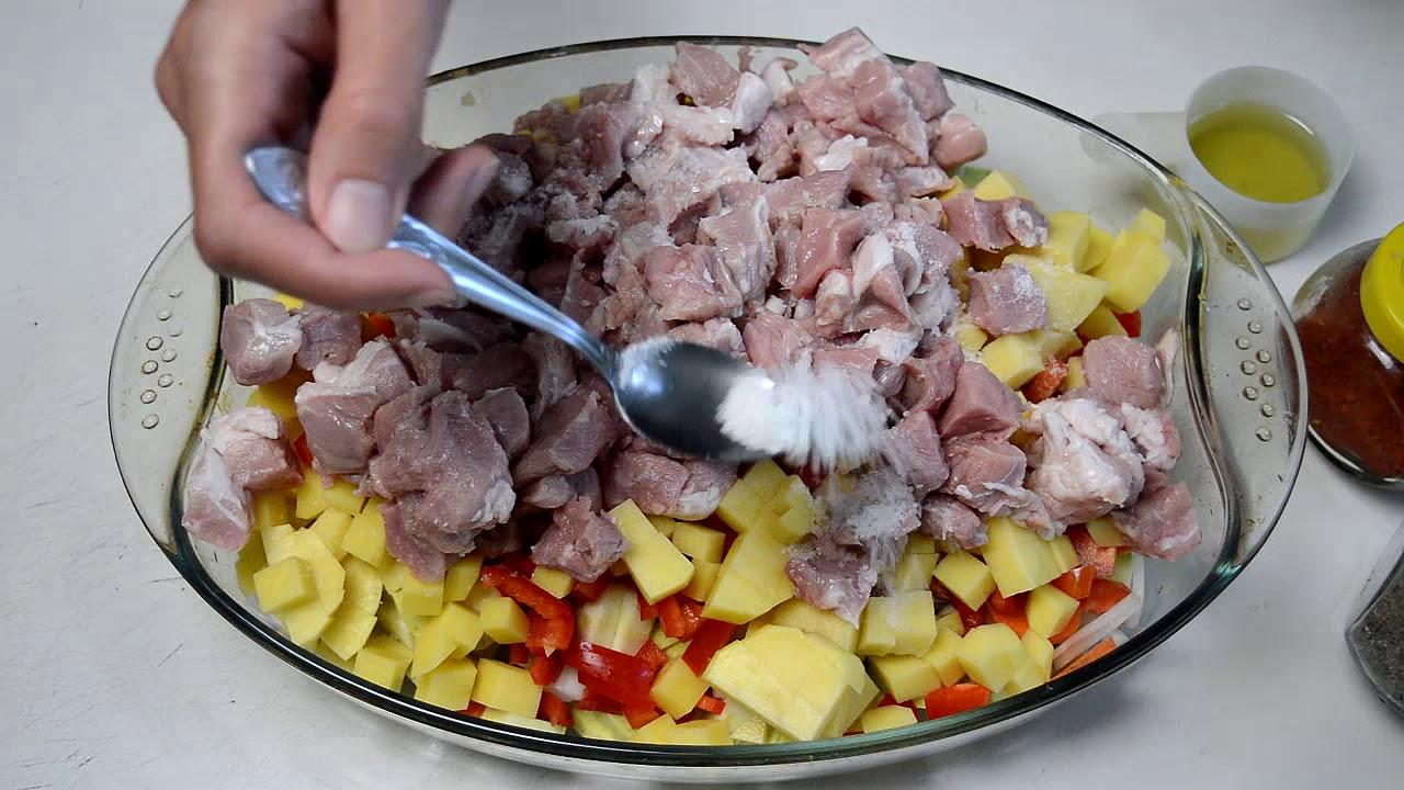Мясо с Овощами в Духовке Картошка с Мясом и Овощами в Духовке на Противне