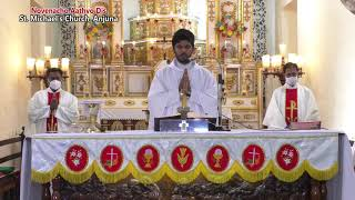 Novenacho Aathvo Dis - 02 Oct - celebrated by Fr. Antony Britto sfx St.  Michael's Church, Anjuna