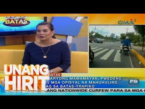 Unang Hirit: Kapuso sa Batas: Mga traffic enforcer, na-huli cam na lumalabag sa batas-trapiko