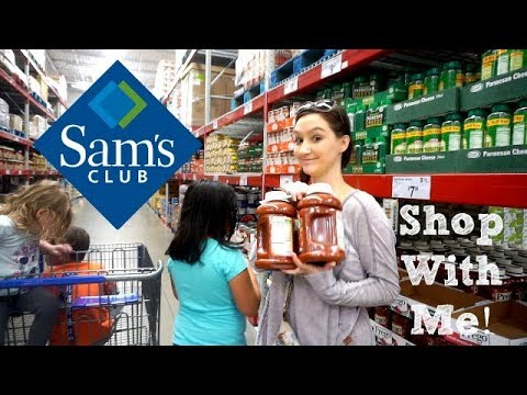 SHOP WITH ME AND 5 KIDS| SAMS CLUB| LARGE FAMILY GROCERY HAUL