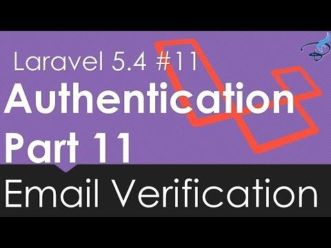 Laravel 5.4 Email Verification - Authentication Course  #11