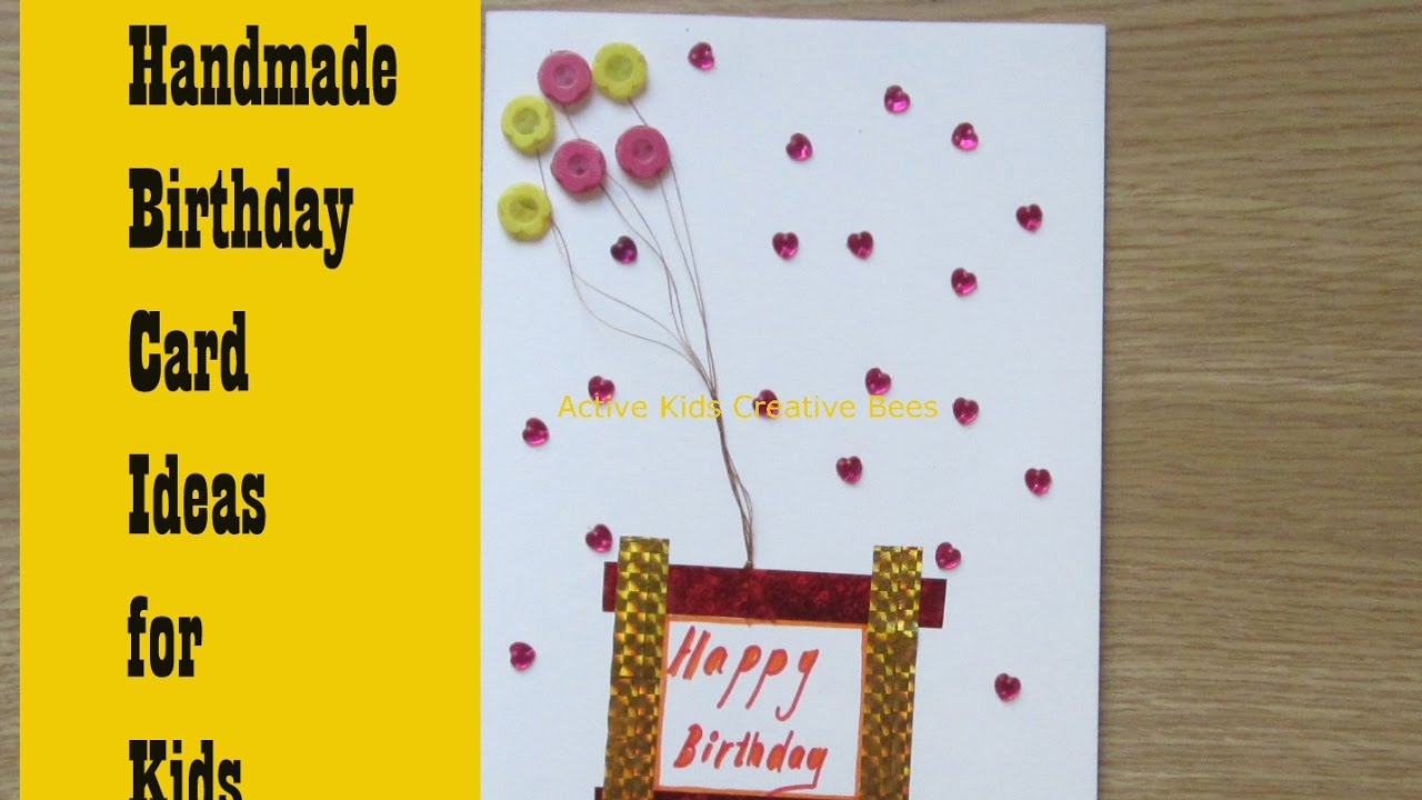 How to make birthday cards at home greeting card making ideas for youtube premium m4hsunfo