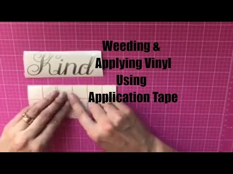 How to Weed and Apply Vinyl Using Transfer Tape - Decals ...