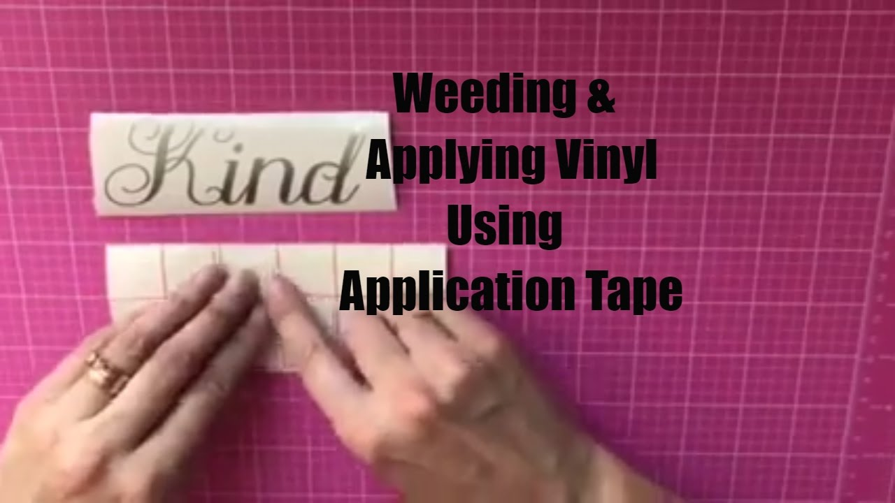 How To Weed And Apply Vinyl Using Transfer Tape Decals Made With - How to make vinyl decals using cricut