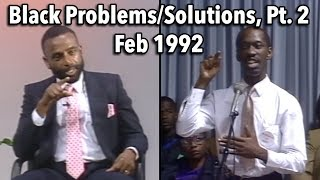Black History Month 1992: Problems and Solutions (Part 2)