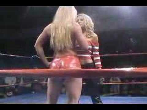 XPW Lizzy Borden and Major Gunns in Ring Confrontation