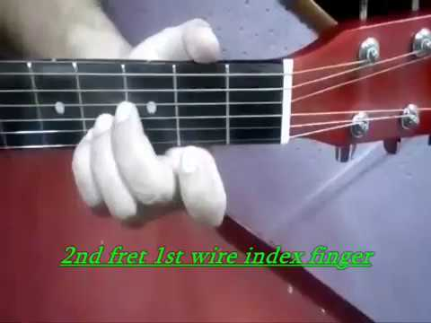 How to play B Major chord on Guitar (Tuitorial #11) by sachien ...