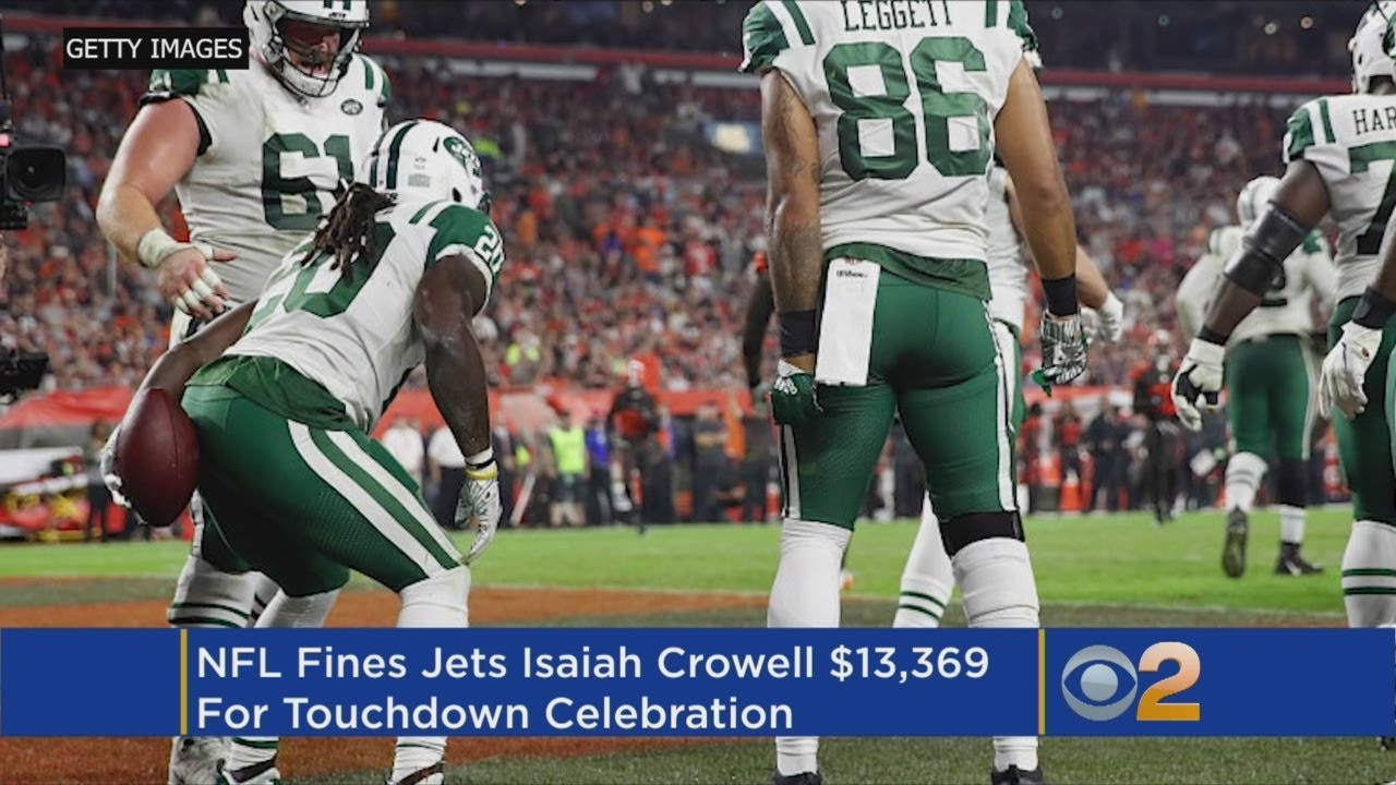 22eab0532a7 Jets  Crowell Fined  13K By NFL For  Wipe  Celebration - YouTube