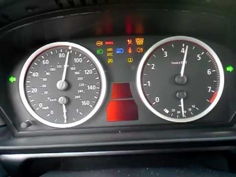 BMW E60 07 530i cluster test mode- diagnostic mode - YouTube