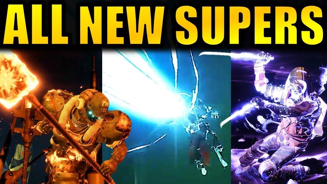 destiny 2 forsaken how to get new supers