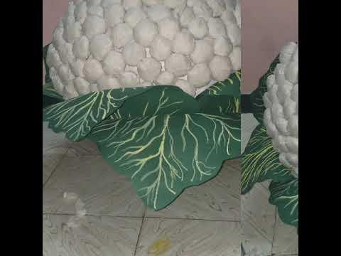 How to make home made fancy dress cauliflower drapery   Vegetable, fruits idea