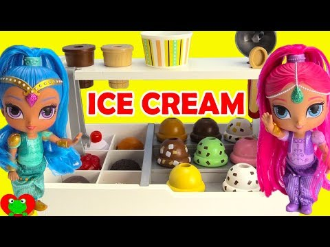 Shimmer and Shine Visit Ice Cream Parlor Surprises