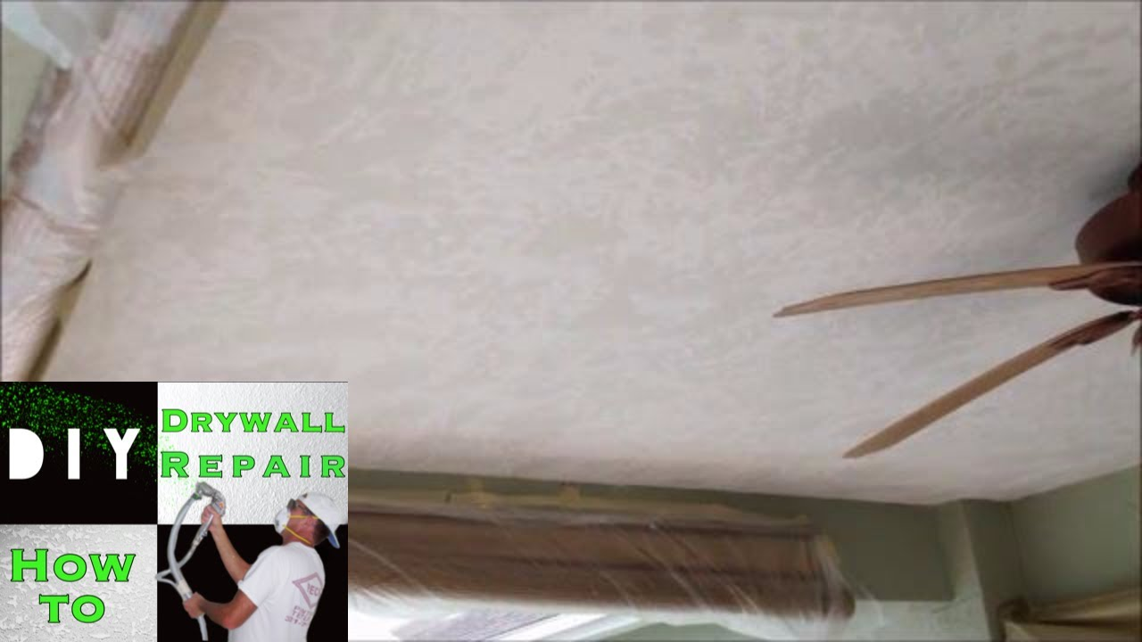 Drywall Tape Joint Ceiling Repair Skim Coat Skip Trowel